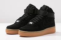 Кроссовки Nike Air Force 1 High Black Suede