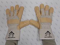 Перчатки рабочие комбинированные спилком и кожей, пятипалые  EC 005