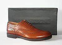 Мужские туфли броги Harrykson оригинал натуральная кожа 45
