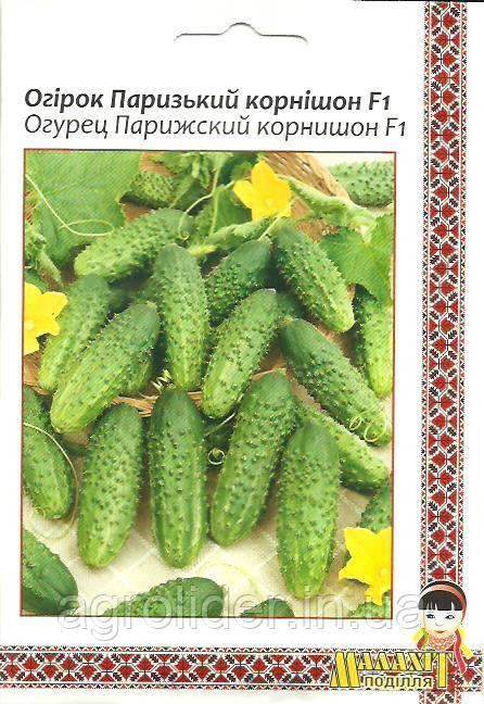 Семена огурец Парижский корнишон F1 5г Зеленый (Малахiт Подiлля)
