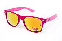 Яркие очки Ray Ban Зеркальные малиновые 2027-19, фото 1