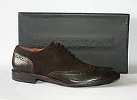 Мужские туфли Harrykson оригинал, натуральная кожа и замша 45