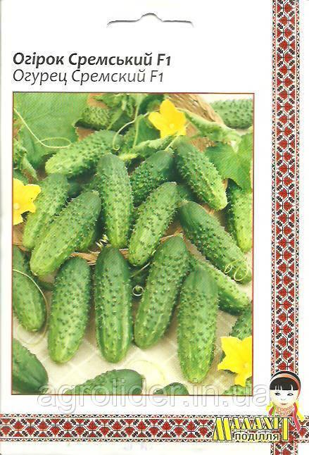 Семена огурец Сремский F1 5г Зеленый (Малахiт Подiлля)