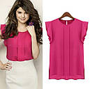 Розовая шифоновая блуза, фото 2