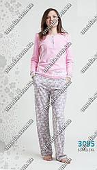 Летняя женская пижама  розового цвета
