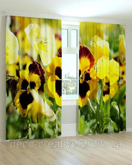 Фотошторы цветы желтые