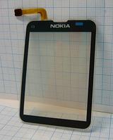 Тачскрин / сенсор (сенсорное стекло) для Nokia C3-01 | C3-02 (черный цвет)