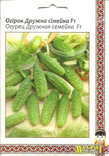 Семена огурец Дружная семейка F1 5г Зеленый (Малахiт Подiлля)