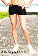Спортивные шорты с салатовой полоской, фото 1