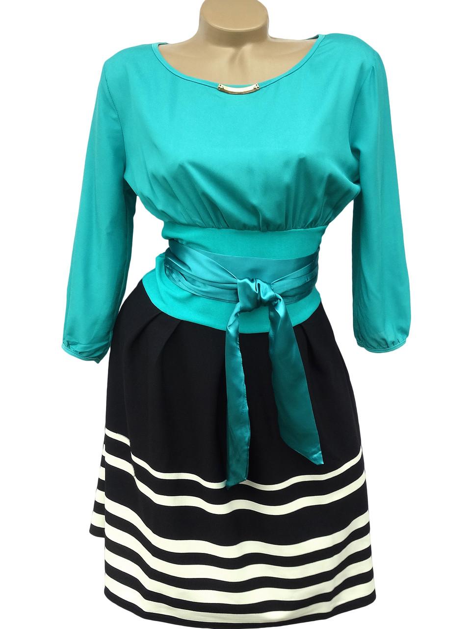 Красивое платье с атласным поясом (44)