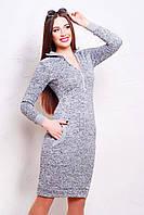 Платье приталенное с карманами, фото 1