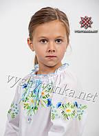 "Дитяча вишиванка на дівчинку, арт. 0190 ""Ромашки-волошки"""