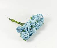 Розы бумажные 1.5 см (12 шт) №13