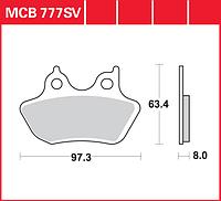 Тормозные колодки Harley Davidson TRW / Lucas MCB777SV