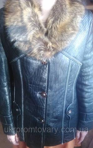 Распродажа. Женская новая куртка натуральная кожа и натуральный мех, фото 2