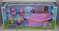 Игровой набор: Герои Свинка Пеппа, которые брызгаются водой с ванной