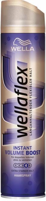 Лак для волос Мгновенный объем Экстра сильной фиксации Wellaflex Haarspray Instant Volume & Repair  400 мл