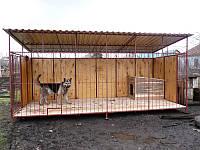 Модульный вольер для собаки с крышей из профнастила
