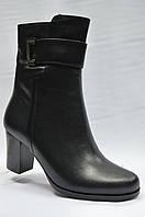 Черные  ботиночки на каблуке  ERISSES. Маленькие размеры., фото 1