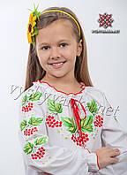 """Вышиванка для девочки длинный рукав, арт. 0194 """"Калина"""""""