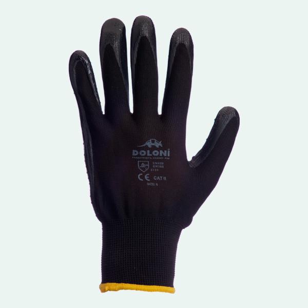 Перчатки стрейчевые с неполным нитриловым покрытием арт.4522 DOLONI, фото 1