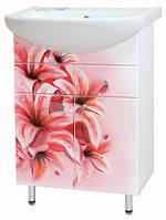 Тумба под раковину Либра 60-09 Розовая лилия