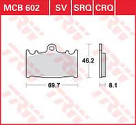 Тормозные колодки комплект для мотоцикла TRW / Lucas MCB602SV