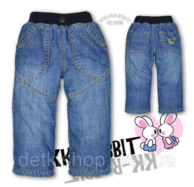 Детские джинсы на флисе KK-RABBIT (модель 1)