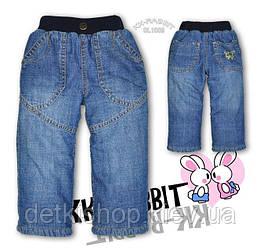Дитячі джинси на флісі KK-RABBIT (модель 1)