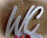 Буквы WC заготовка для декора, фото 2