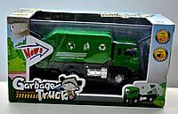 """Инерционная машинка мусоровоз """"Garbage Truck"""" BF038, машинка со световыми и звуковыми эффектами"""