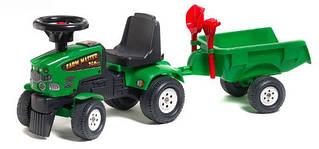 Трактор каталка с прицепом Mustang Falk 1081C