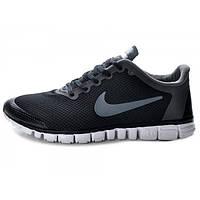 Кроссовки беговые мужские Nike free run 3.0 черного цвета