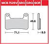 Комплект тормозных колодок TRW / Lucas MCB752SV