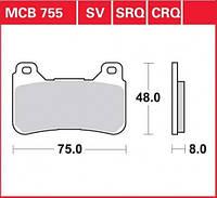 Комплект тормозных колодок для Honda TRW / Lucas MCB755SV