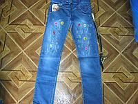 Детские стрейчевые джинсы + ремешок , подросток  для девочки 10 лет  Турция