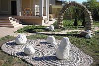 Ландшафтный дизайн из гранитной брусчатки, фото 1