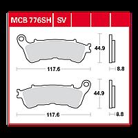 Колодок тормозных комплект TRW / Lucas MCB776SV