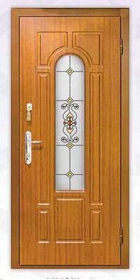 Входные бронированные двери из МДФ