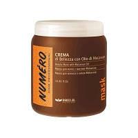 Крем маска для волос Brelil Numero 1л с макассаровым маслом и кератином