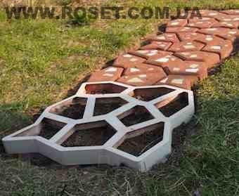 Форма для производства тротуарной плитки «Садовая дорожка» - Интернет-магазин «Росет» в Киеве