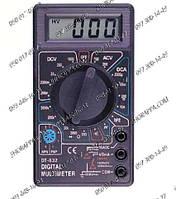 Цифровой мультиметр DT-832, измерение тока, сопротивления, напряжения, коэффициента усиления транзистора