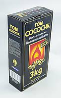 Кокосовый уголь Tom Cococha Gold 3кг (216 кубика)  в упаковке
