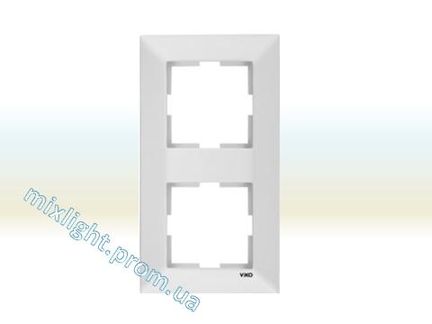 Рамка двойная вертикальная Viko Meridian, фото 2