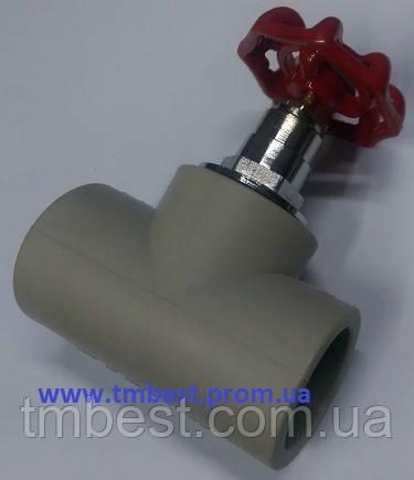 Вентиль полипропиленовый 20 мм ППР, фото 2