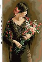 Канва с нанесенным рисунком Сеньорита