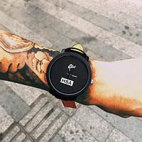Спортивные наручные кожаные  часы HBA Relojes женева унисекс Новинка!!!