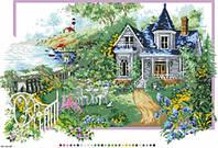 Схема на канве с  рисунком Летний домик