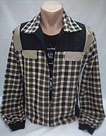 Рубашка на молнии имитация двойки с футболкой р. L