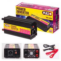 Преобразователь напряжения 12V-220V/2000W/USB-5VDC0.5A/клеммы Pulso IMU-2000